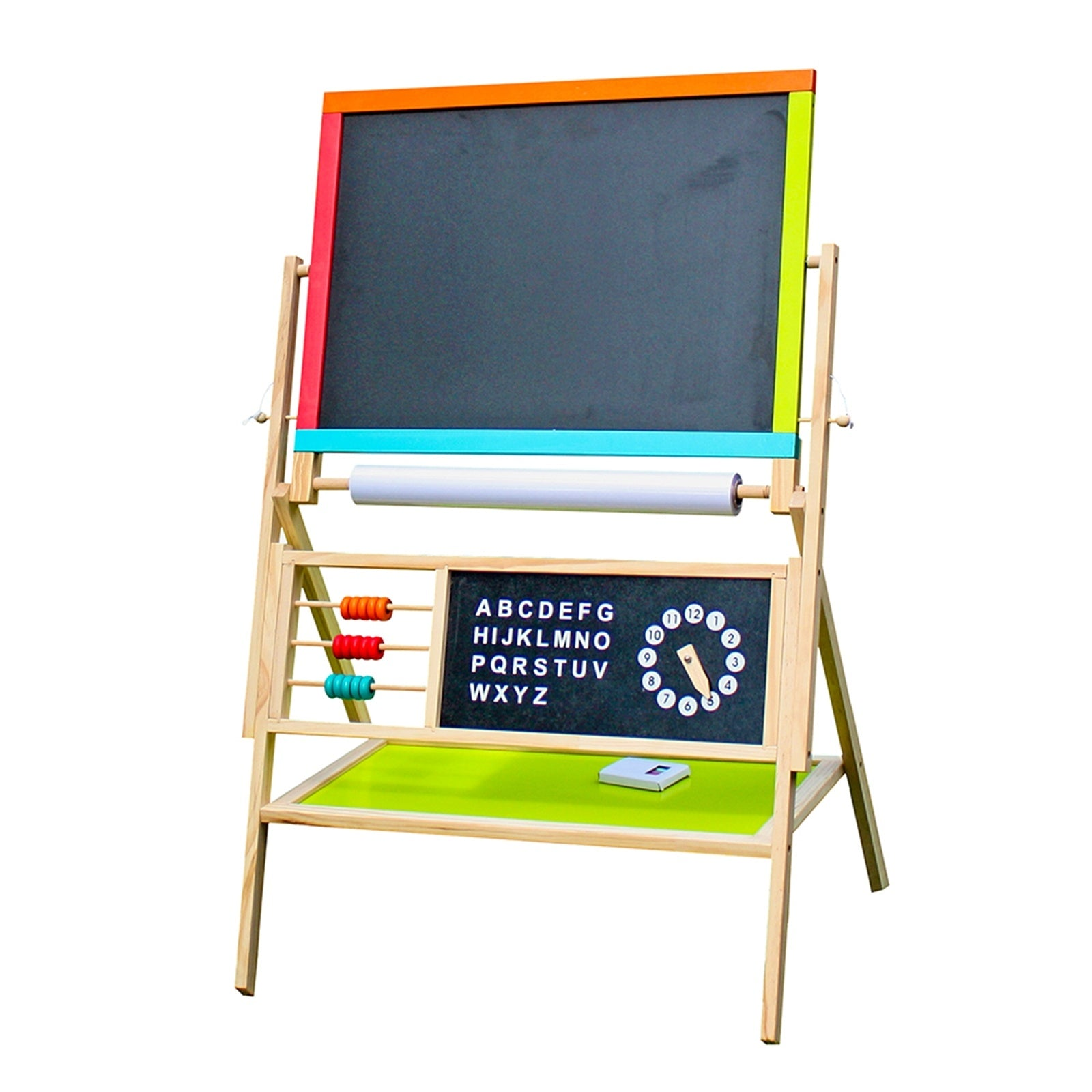 All-in-One Multifunction Wooden Kid's Art Education Easel with Accessories YF