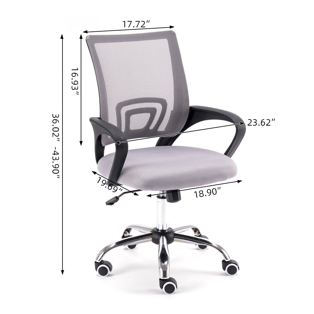 Free shipping Office ChairErgonomic Mesh Chair Computer Chair Home Executive Desk Chair Comfortable Reclining Swivel Chair High Back with Wheels and Adjustable Headrest for Teens/Adults