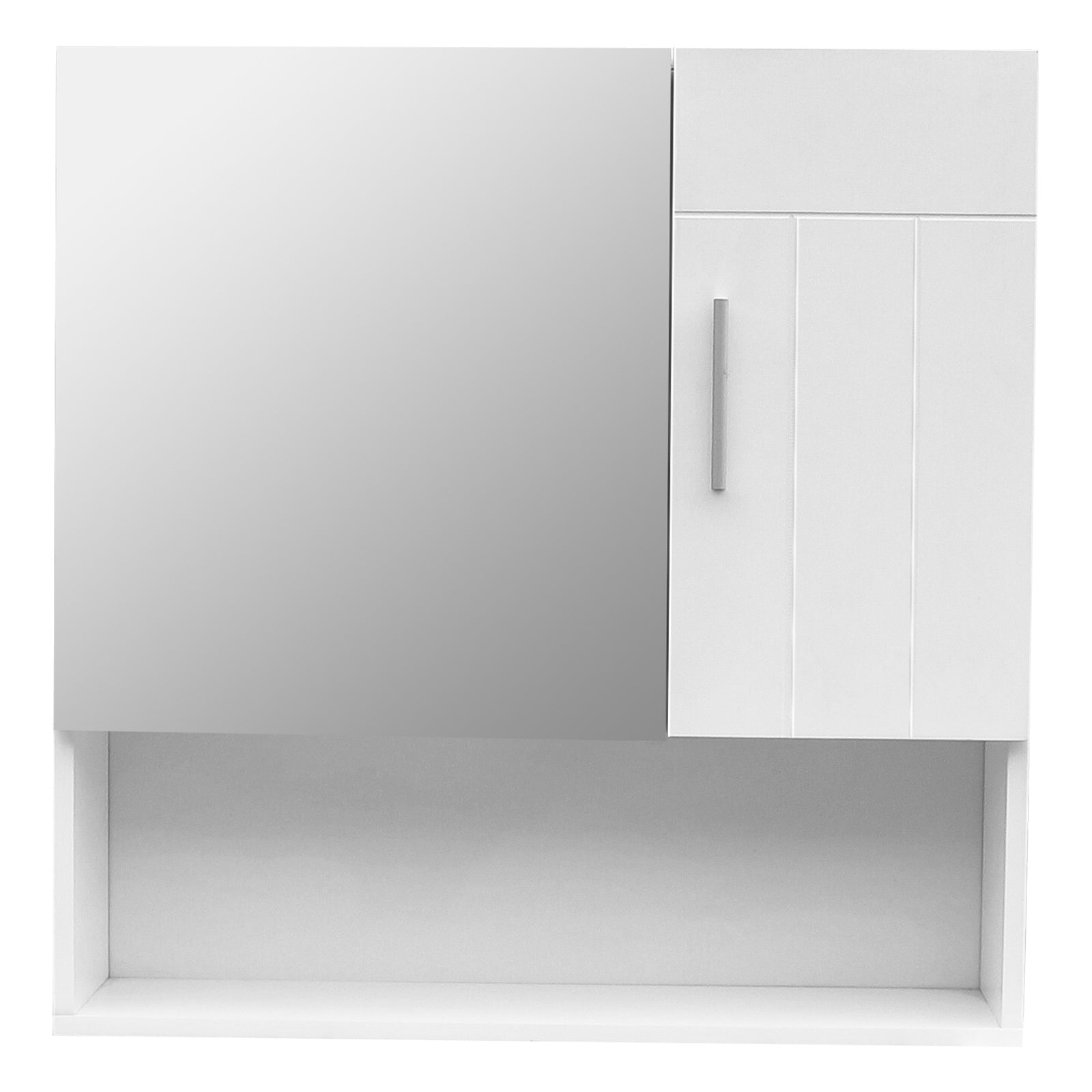 FCH White MDF Spray Paint One Mirror Door One Wooden Door Bathroom Sink Cabinet RT