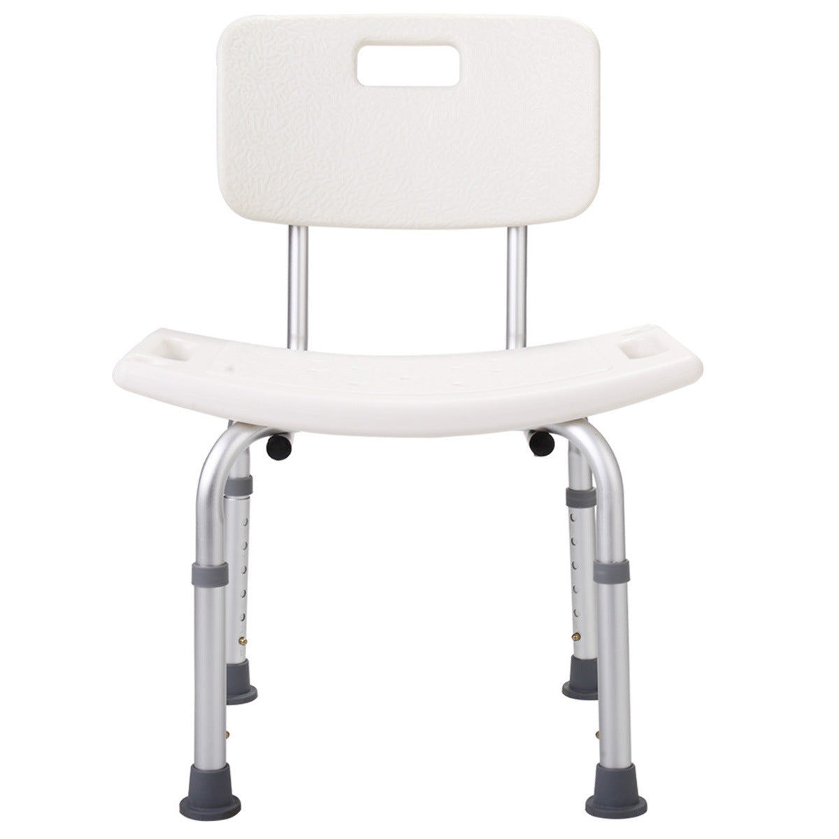 Bathroom Safety Shower Tub Heavy Duty Aluminium Alloy Bath Chair Bench with Back XH