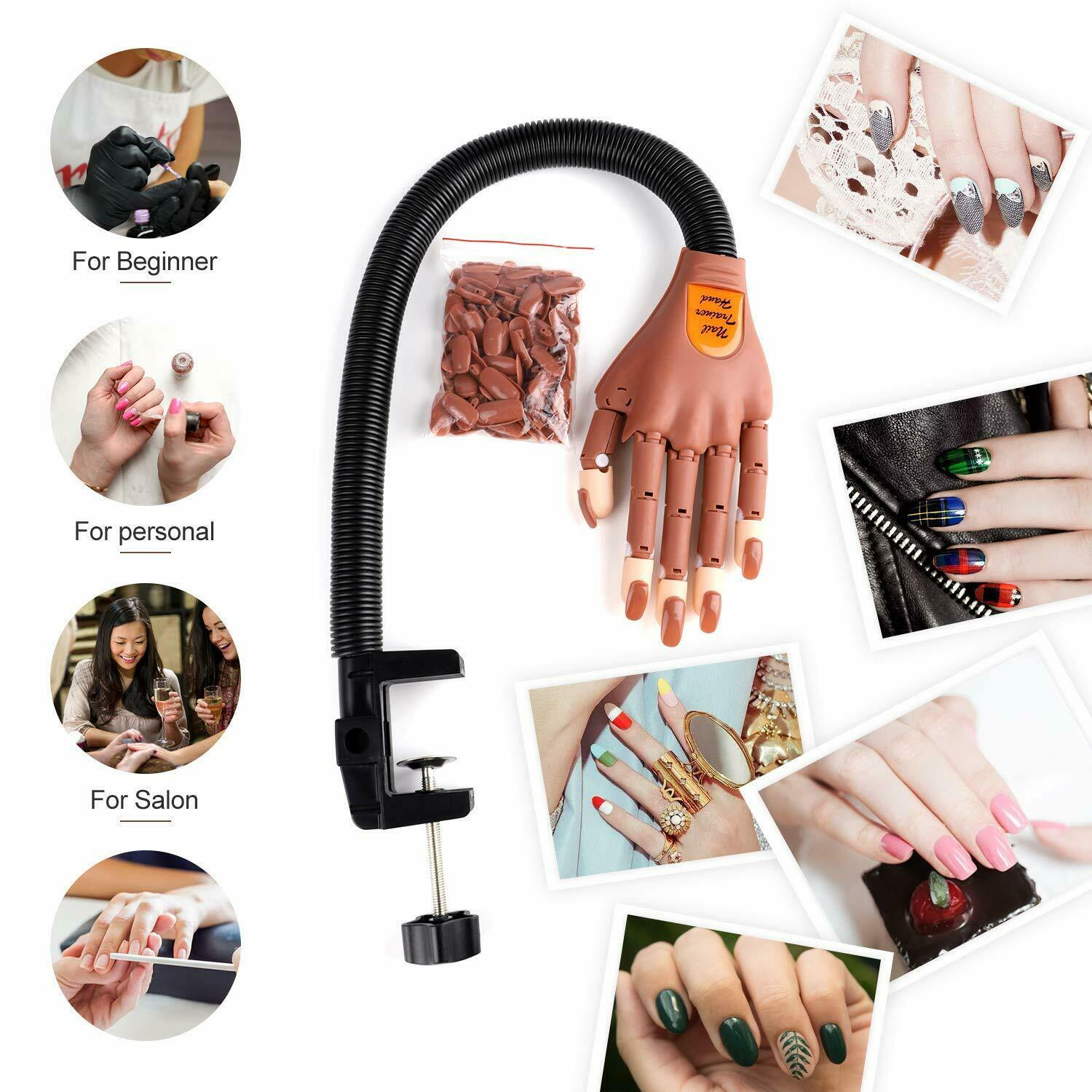 Free shiping Manicure Practice Includes 100 PCS of Nail piece DIY printing practice tools for the best manicure