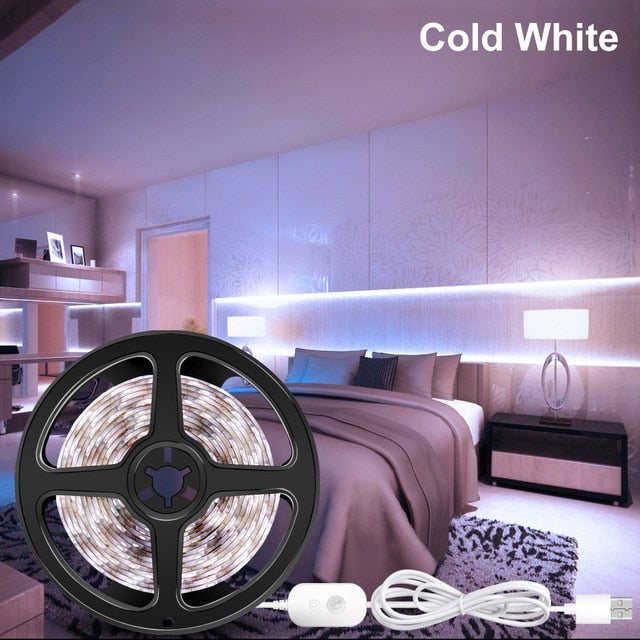 5V PIR LED Closet Light Tape Wireless Motion Sensor Lamp Kitchen Cabinet Light Lamp LED Strip Waterproof USB LED Lighting Ribbon