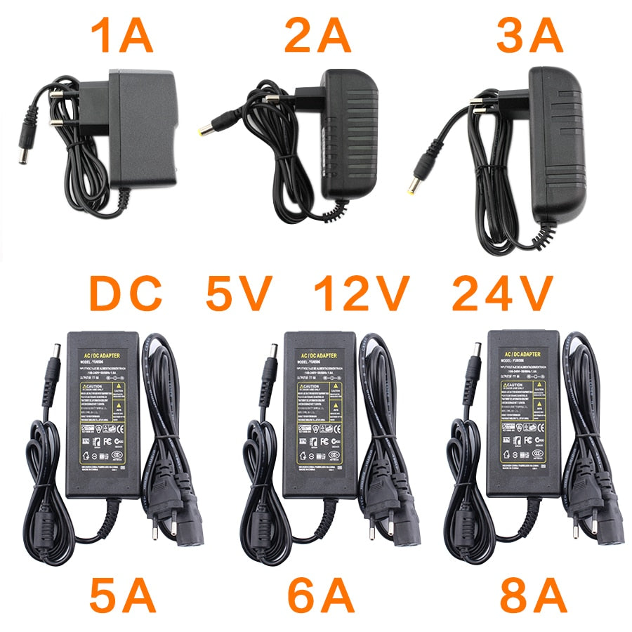 AC DC 12V 5V 6V 8V 9V 10V 12V 13V 14V 15V 24V Power Supply Adapter 1A 2A 3A 5A 6A 8A 220V To 12V Power Supply Adapter LED Driver