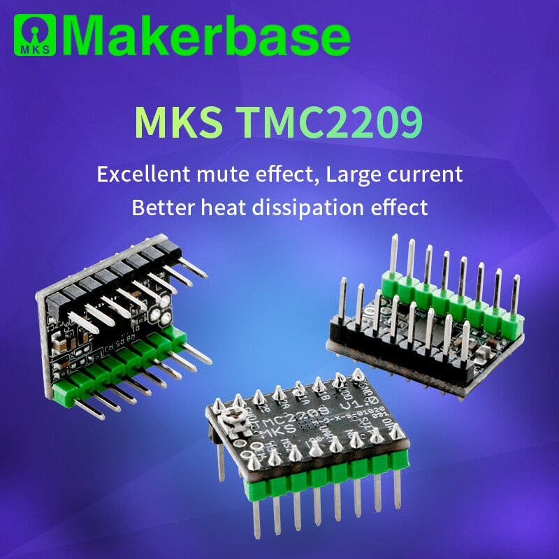 Makerbase MKS TMC2209 2209 Stepper Motor Driver StepStick 3d printer parts 2.5A  UART ultra silent For SGen_L Gen_L Robin Nano