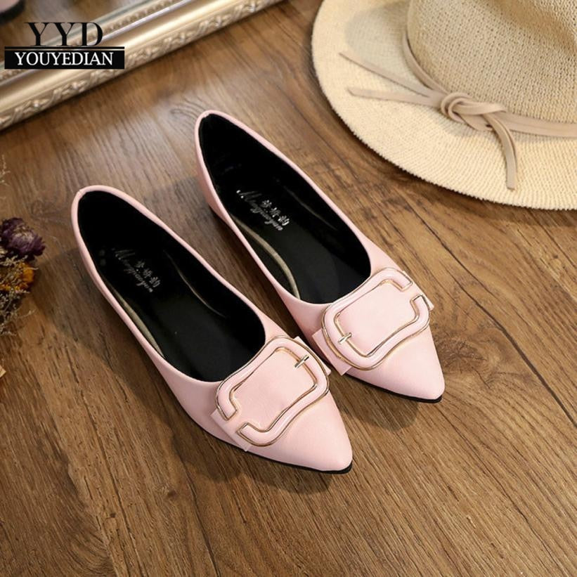 Fashion(ship from USA)Women's Flats Ladies Comfy Shoes Soft Slip-On Single Casual Boat Shoes zapatos de hombre 2018#a40