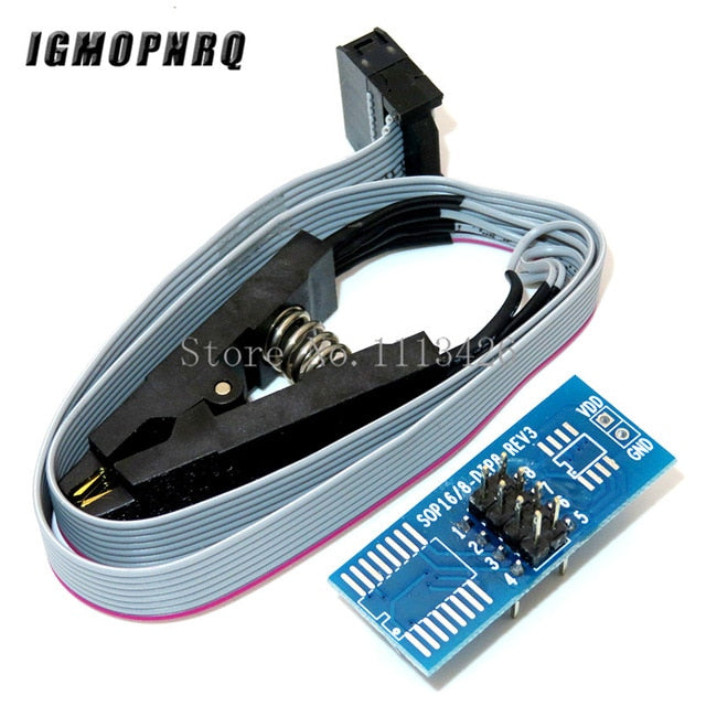 CH341A 24 25 Series EEPROM Flash BIOS USB Programmer Module + SOIC8 SOP8 Test Clip For EEPROM 93CXX / 25CXX / 24CXX