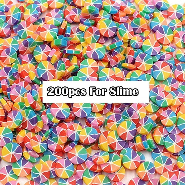 Slimes Addition Soft Fruit Slices For Slime Fluffy Lizun DIY Nail Mobile Supplies Slime Charm Accessories Kits For Children