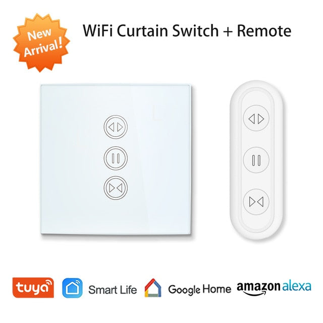 Remote Control Blind Shutter Tuya Smart Life EU WiFi Curtain Touch Switch Voice Control by Google Home Alexa echo App Timer