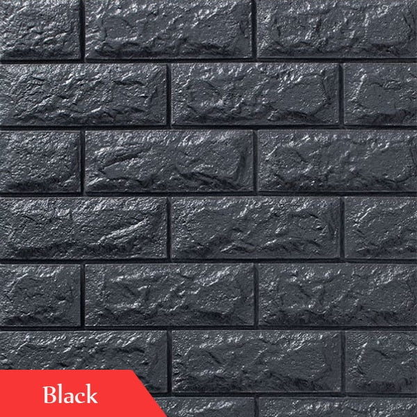 Wallpapers 3D Brick Pattern for TV background Living Room Bedroom Wall Decor DIY Self-adhesive Waterproof PE Foam Wall Stickers