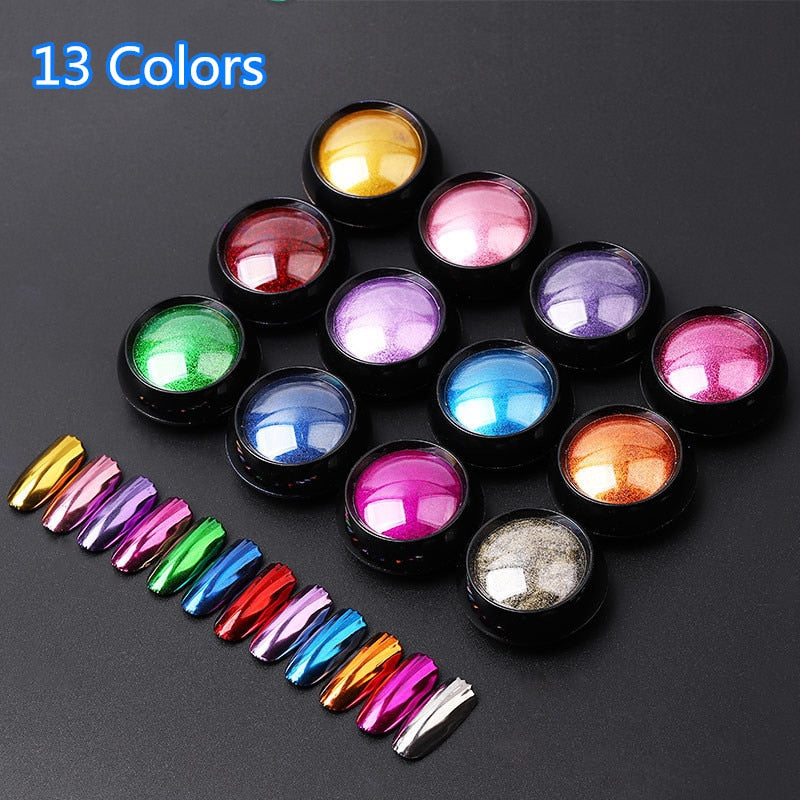 Nail Art Glitter dipping powder Chrome Mirror Glitter Pigment Powder For Nails Decorations DIY Manicure