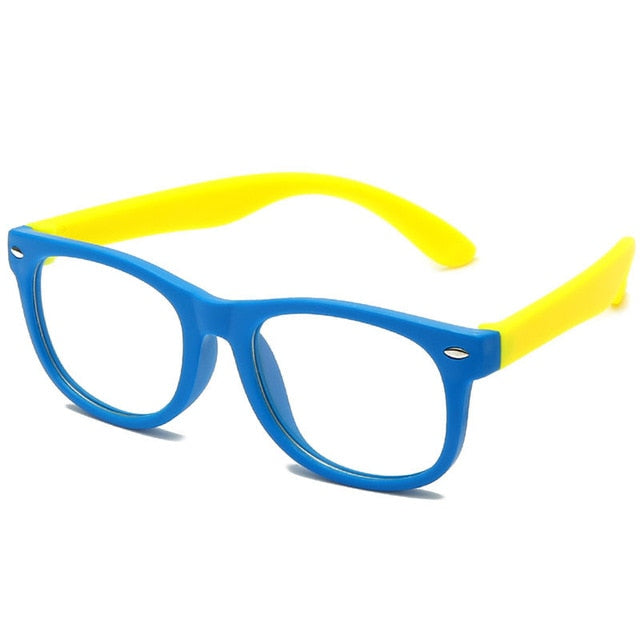 HOOLDW Anti blue Light Kids Glasses Children Square Optical Frame Eyeware Boy Girls Square Computer Transparent Eyeglasses UV400