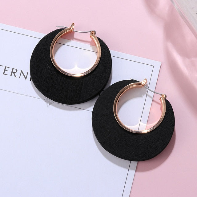 POXAM New Korean Statement Earrings for women Black Cute Arcylic Geometric Dangle Drop Gold Earings Brincos 2020 Fashion Jewelry