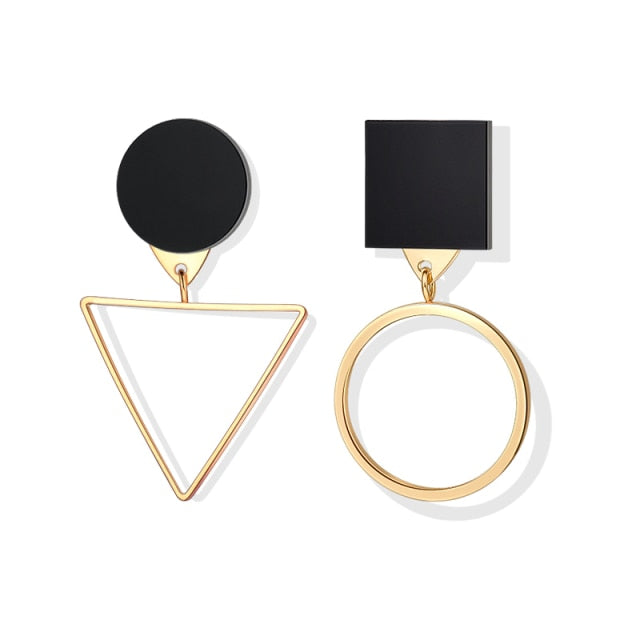 LOVR New Korean Statement Drop Earrings For Women Fashion Vintage Geometric Long Dangle Earrings 2020 kolczyki Female Jewelry