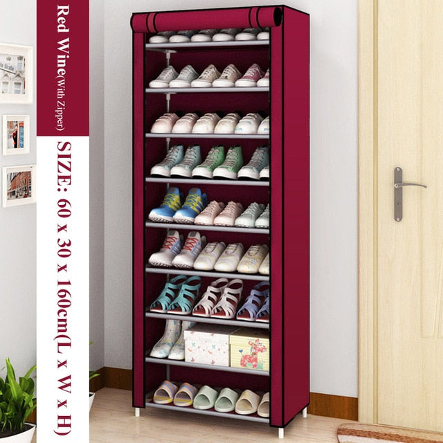 Multilayer Shoe Rack Detachable Dustproof Nonwoven Fabric Shoe Cabinet Home Standing Space-saving Stand Holder Shoes Organizer