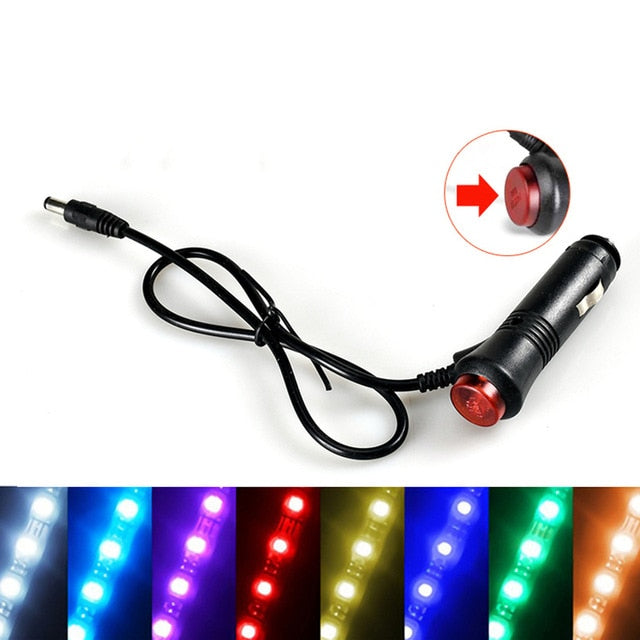Car Decoration Light Interior Atmosphere Light RGB LED Strip Light With USB Wireless Remote Music Control Multiple Modes