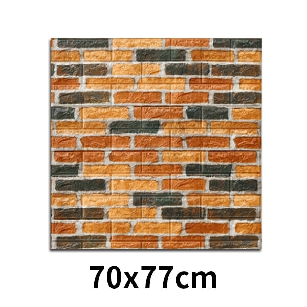 House Decoration 3D PVC Wall Stickers Paper Brick Stone Wallpaper DIY Rustic Effect Self adhesive Home Decor Sticker Living Room