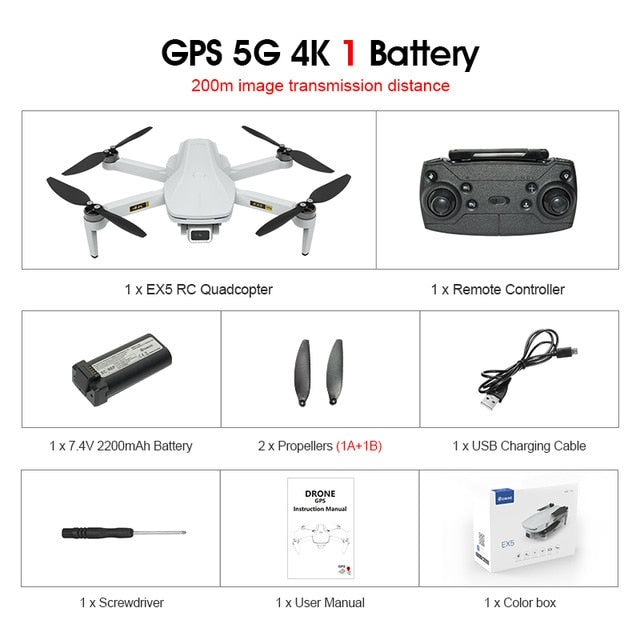 Eachine EX5 Drone 229g RC Quadcopter 4K GPS HD Mini Camera Profesional With 5G WIFI 1000 METERS Distance FPV Drone Protable Dron