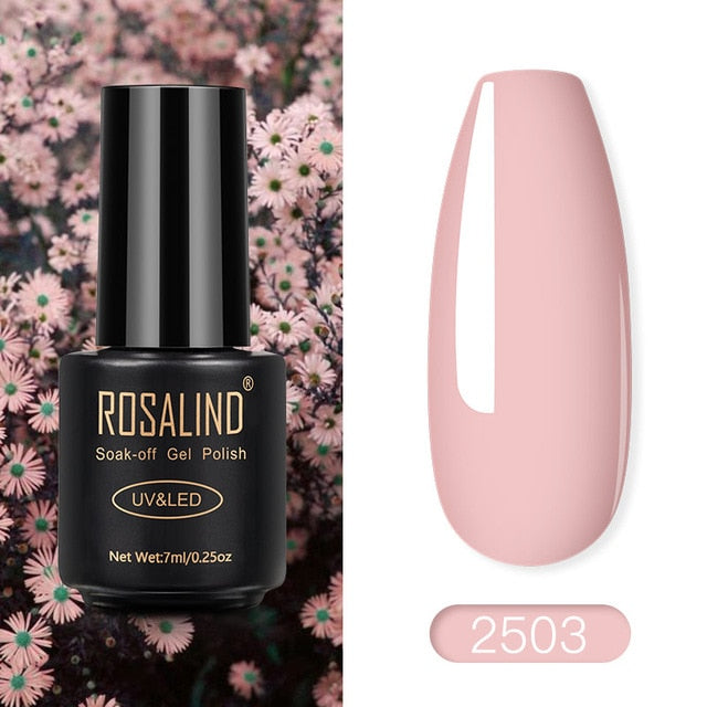 ROSALIND Nail Polish Red Nude Series Polish All For Manicure Nails Art Semi Permanent Gel UV LED Soff Off Hybrid Varnishes
