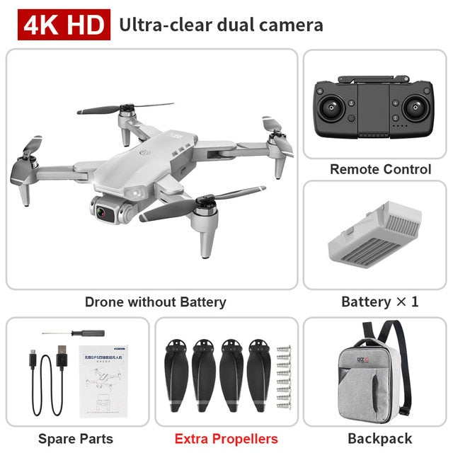 XKJ L900PRO GPS Drone 4K Dual HD Camera Professional Aerial Photography Brushless Motor Foldable Quadcopter RC Distance1200M