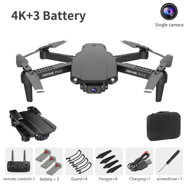 NYR E99 Pro2 RC Mini Drone 4K 1080P 720P Dual Camera WIFI FPV Aerial Photography Helicopter Foldable Quadcopter Dron Toys