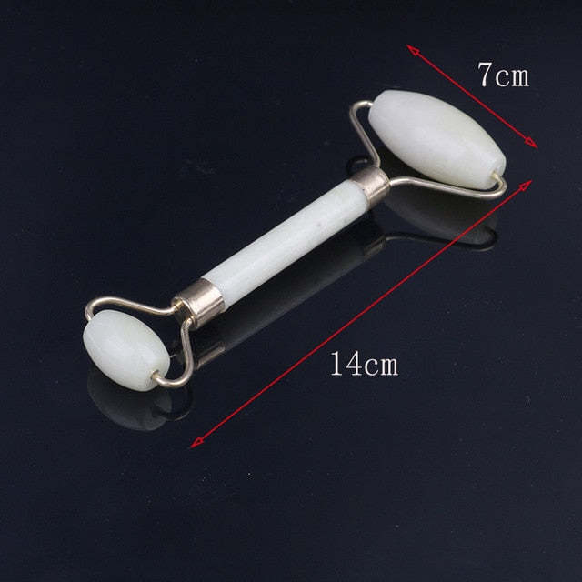 1 Pcs Portable Pratical Facial Massage Roller Natural Jade Anti Wrinkle Face Slimming Shaper Body Foot Relaxation Beauty Tool