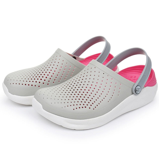 Women Mens Summer Casual Slippers Light Breathable Swimming Walking Beach Sports Flip Flops Soft Sandals Anti-slip Water Shoes