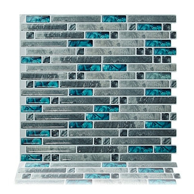 (Ship from USA) Peel and Stick Wall Tiles 10.5'' x 10'' Kitchen Backsplash Tile Resin 3D Wall Sticker, 10 Tiles/ Pack