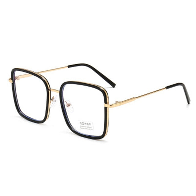 Big Frame Square Anti-blue Light Glasses Frame Oversized Computer Eyewear Frame For Women&Men Square Optical Glasses Eyeglasses