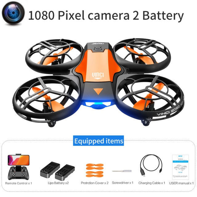 V8 New Mini Drone 4k profession HD Wide Angle Camera 1080P WiFi fpv Drone Camera Height Keep Drones Camera Helicopter Toys