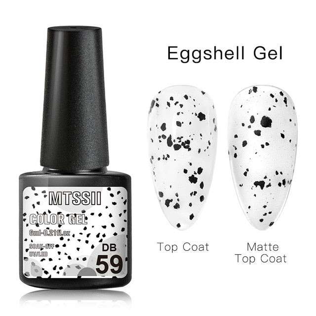 Mtssii  6ml Nail Gel Eggshell Gel Nail Polish Transparent Gel Soak Off Nail Art Gel  UV LED Varnish With Any Color Base Top Coat
