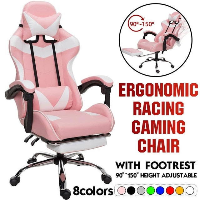 Professional Computer Chair LOL Internet Cafes Racing Chair WCG Play Gaming Chair Office Chair Lying Household Chair Furniture