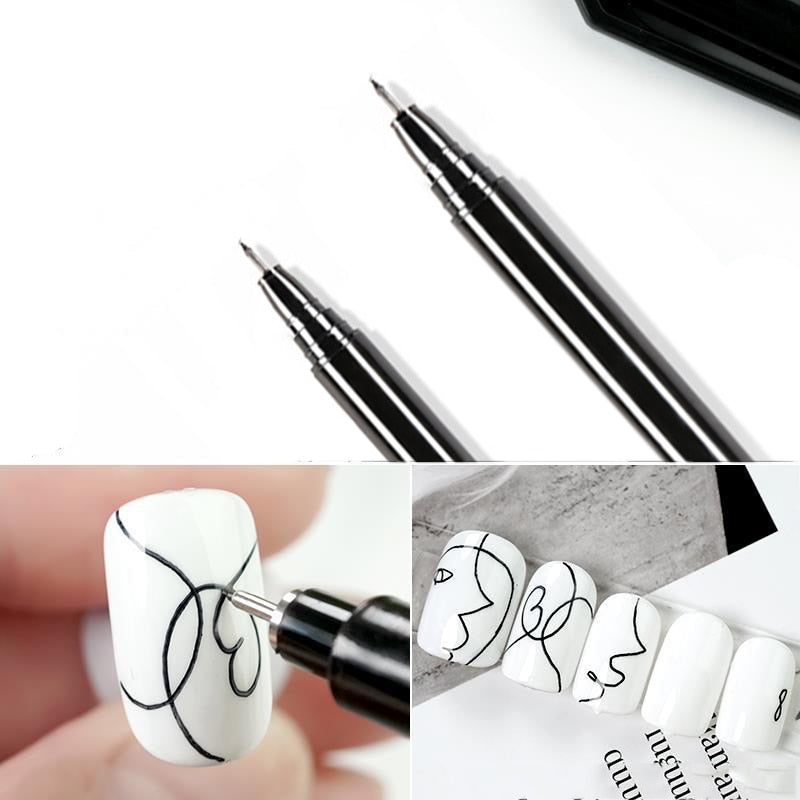 1 Pcs Nail Art Graffiti Pen Waterproof Drawing Painting Liner Brush DIY Flower Abstract Lines Details Nail Art Beauty Tool