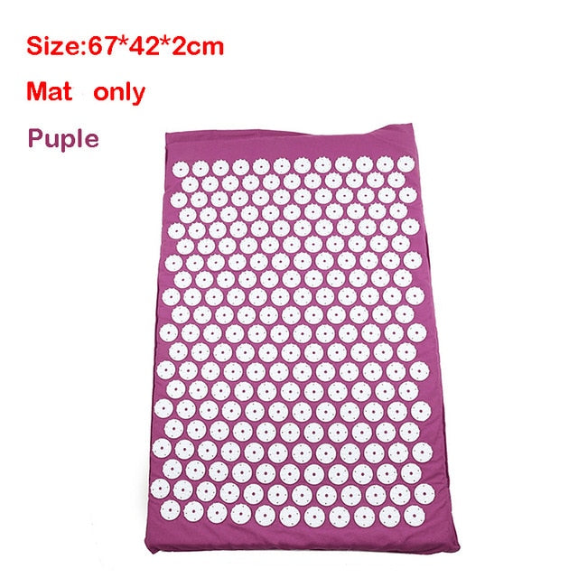 Massager Cushion Massage Yoga Mat Acupressure mat Relieve Stress Back Body Pain Spike Mat Massage Mat