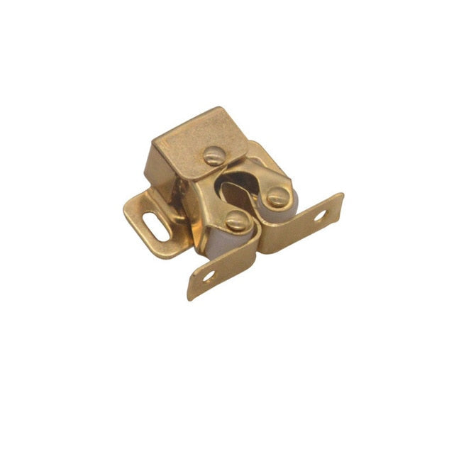 1Pcs Double Ball Roller Catches Cupboard Cabinet Door Latch Locks Hardware Tool Copper Double Roller Catch(Without Screws)