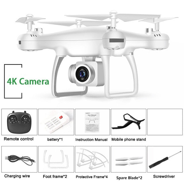Drone 4k Profesional with Camera WIFI FPV RC Quadrocopter Drones Aerial Photography Ultra-Long Life Detachable Camera Dron Toy