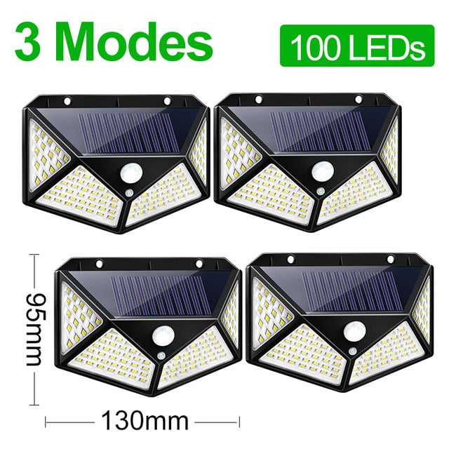 Goodland 180 100 LED Solar Light Outdoor Solar Lamp Powered Sunlight Waterproof PIR Motion Sensor Light for Garden Decoration