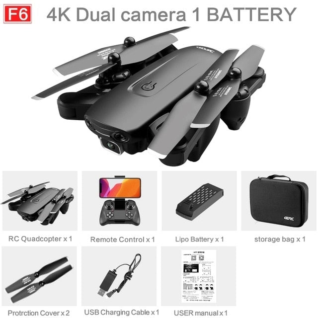 2021 NEW F6 Drone GPS 4K 5G WiFi Live Video FPV Quadrotor Flight 25 Minutes Rc Distance 1000m Drone HD Wide-Angle Dual Camera