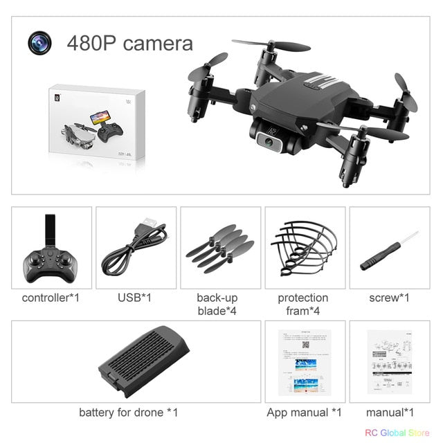 RC Drone UAV Quadcopter WiFi FPV with 4K HD Camera Aerial Photography Helicopter Foldable LED Light Quality Global Toy JIMITU