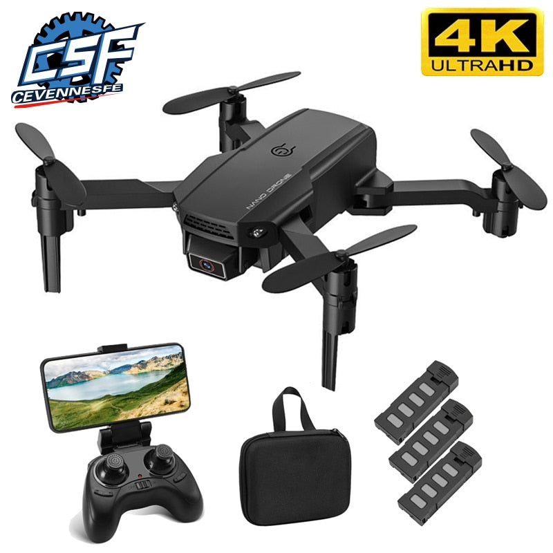 2021 NEW Mini KF611 Drone 4k HD Wide Angle Camera 1080P WiFi Fpv Drones Camera Quadcopter Height Keep Drones Camera Dron Toys