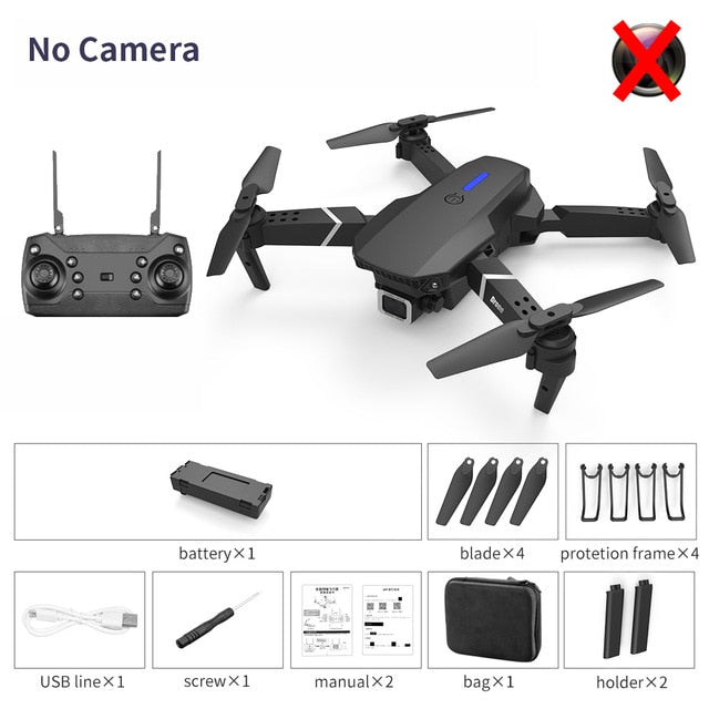 LSRC E525 RC drone with wide-angle HD 4K 1080P dual camera height keeping Wifi RC foldable quadrotor drone gift toy