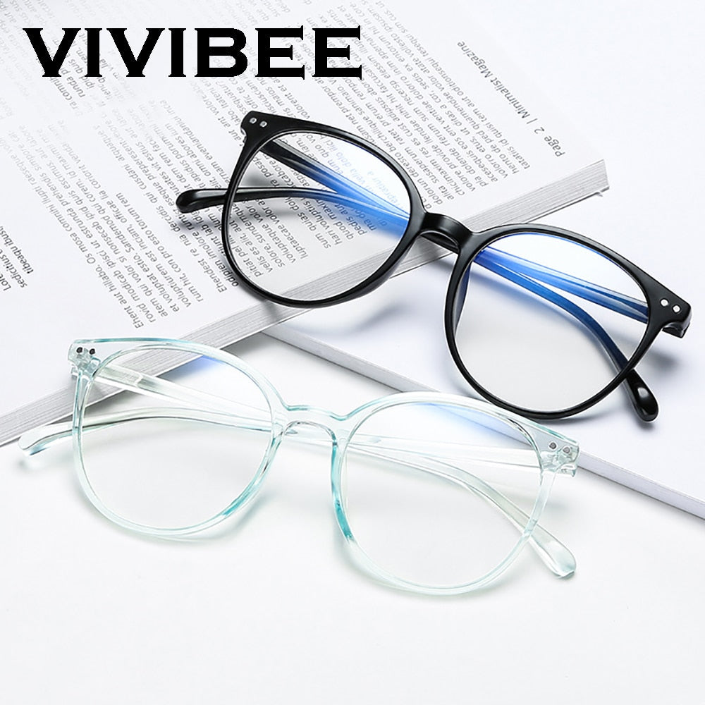 2021 Trending Office Blue Light Blocking Oversized Round Glasses Computer Women Anti Blue Gaming Big Size Men Eyeglasses Frame