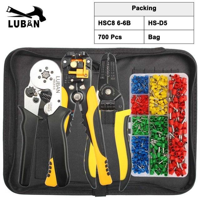 HSC8 6-6B HSC8 6-6A SELF-ADJUSTABLE CRIMPING PLIER 0.25-6mm terminals crimping tools multi TOP BRAND HSC8 6-6 23-10AWG