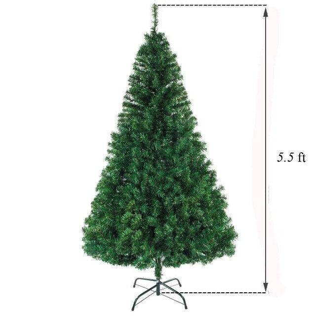 Ship from USA Christmas decoration tree PVC material 90 CM New Artificial Christmas tree indoor reusable Christmas tree