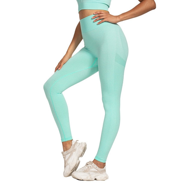 High Waist Seamless Leggings Push Up Leggins Sport Women Fitness Running Yoga Pants Energy Elastic Trousers Gym Girl Tights