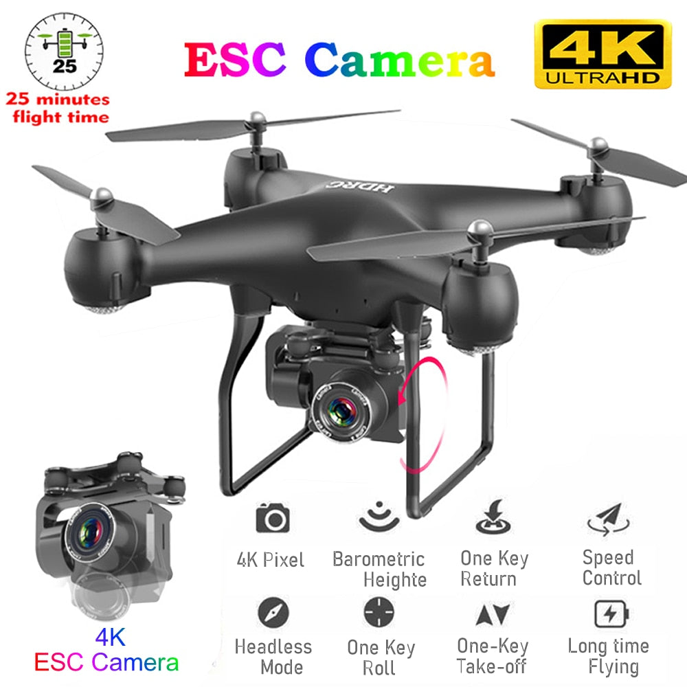 RC Drone FPV Quadcopter UAV with ESC Camera 4K Professional Wide-Angle Aerial Photography Long Life Remote Control Fly Machine
