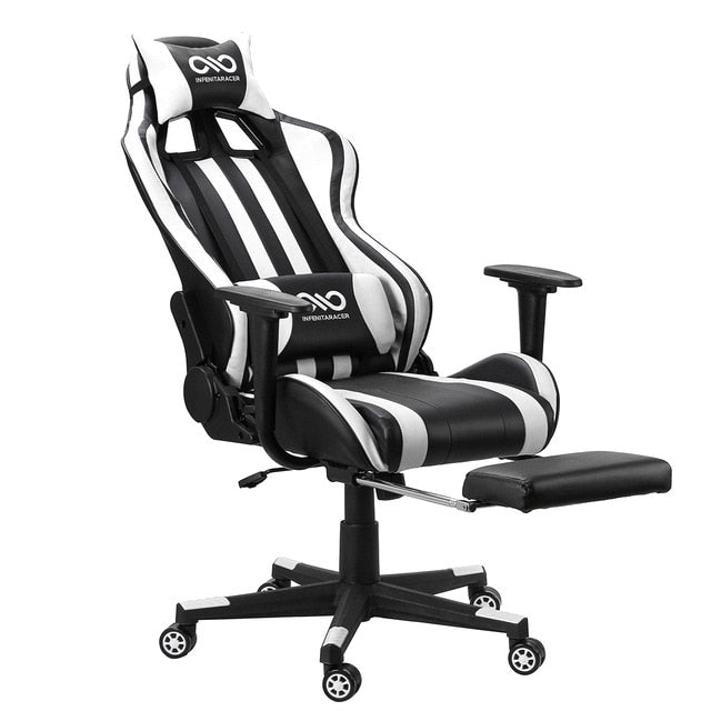 Leather Office Gaming Chair Home Internet Cafe Racing Chair WCG Gaming Ergonomic Computer Chair Swivel Lifting Lying Gamer Chair