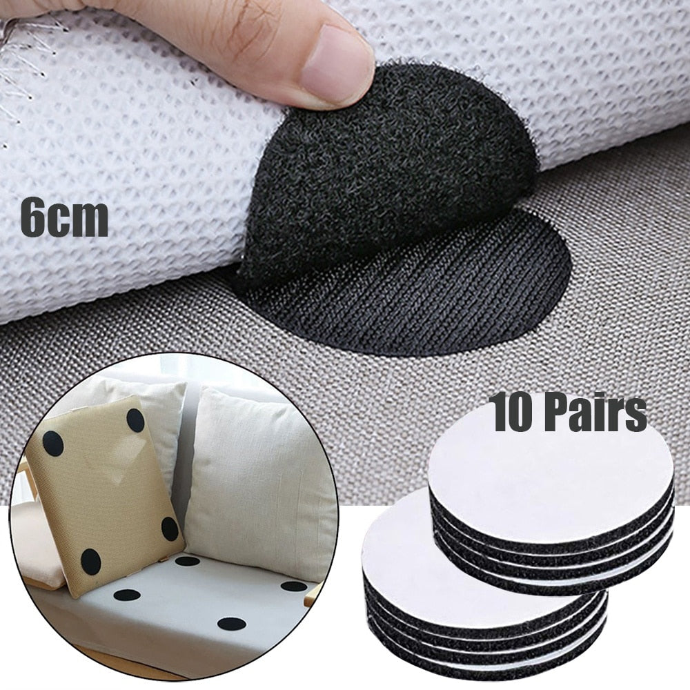 20pcs/10 Pairs Anti Curling Carpet Tape Rug Gripper Carpet Sofa and Sheets in Place and Keep the Corners Flat