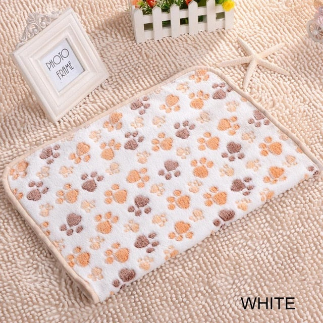 Dog Claw Towel Rug Pet Mat dog Bed Winter Warm Cat coral velvet Towel Blanket Sleeping Cover Towel cushion pet supplies