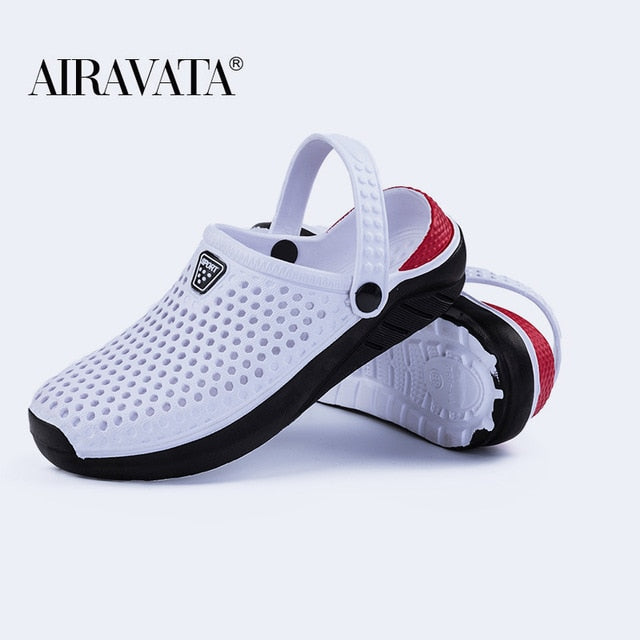Unisex Fashion Beach Sandals Thick Sole Slipper Waterproof Anti-Slip Sandals Flip Flops for Women Men