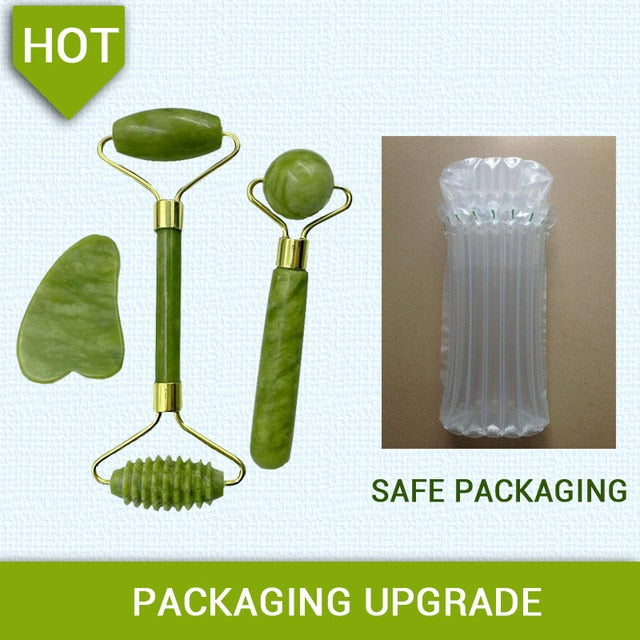[Broken Compensation] Jade Roller Massager for Face Roller Gua Sha Jade Stone Face Massager Lift Facial Beauty Skin Care Tools